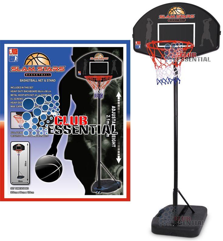 Full Size Backboard Stand Hoop Net Set Height 1 2M 2 6M