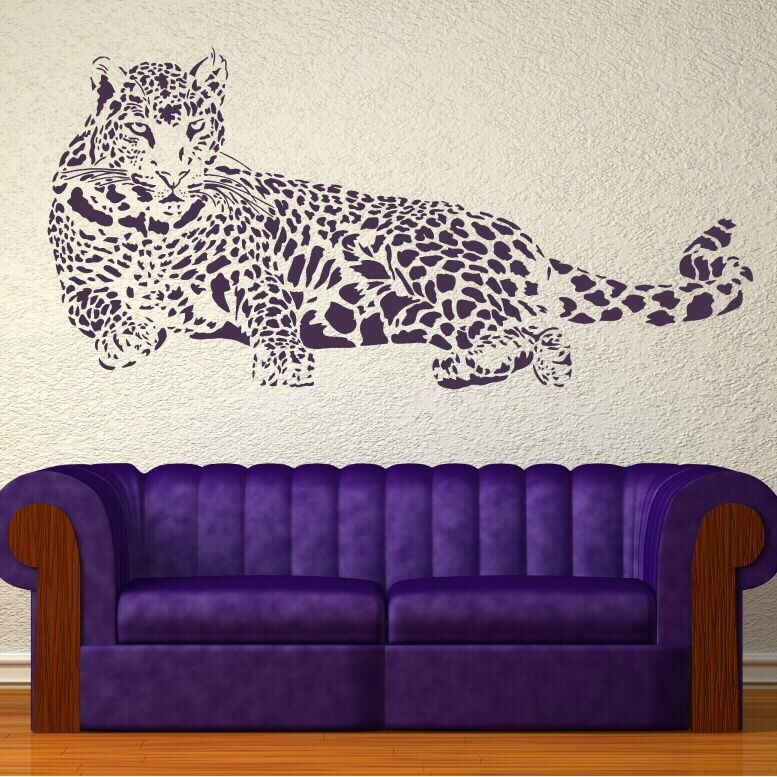 Giant Leopard Cat Wall Art Stickers Graphic Decal Transfer Large