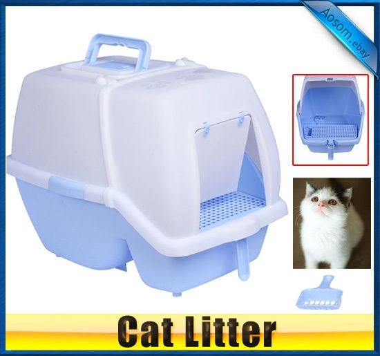 Hooded Cat Litter Box With Scoop