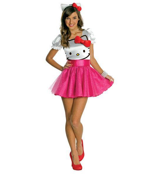 Teen Hello Kitty Tutu Dress Costume