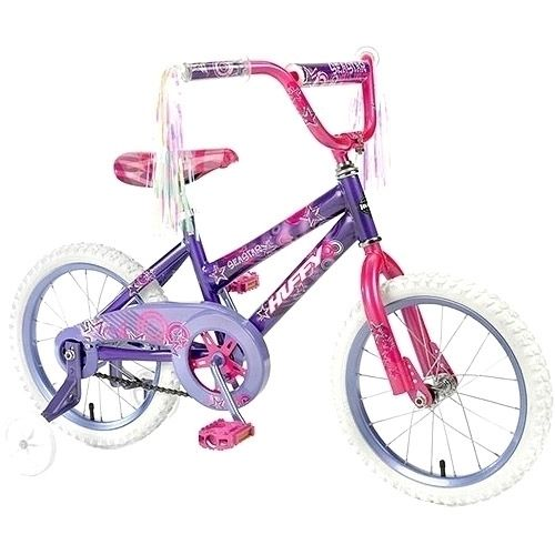 Huffy 16 Inch Girls Sea Star Bicycle Bike Steel Frame Training wheels