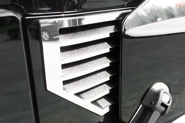 03 06 H2 Cowl Vent Cover, Mirror Polished Truck SUV Chrome Trim