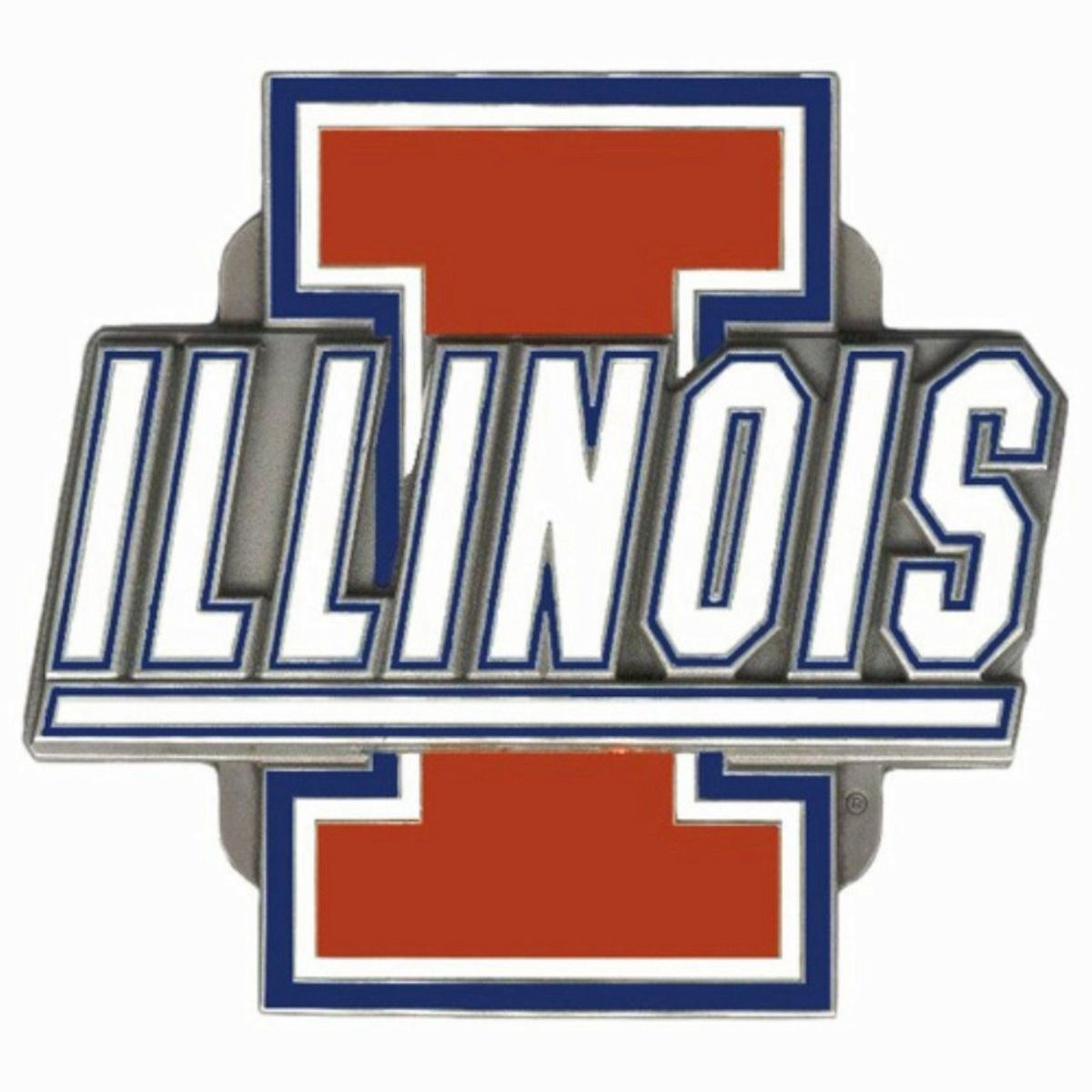 Illinois Fighting Illini NCAA Team Logo Trailer Hitch Cover