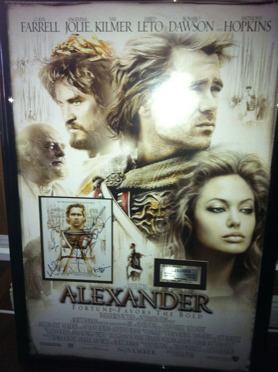 movie promo signed Val Kilmer Colin Ferrel Angelina Jolie Jared Leto