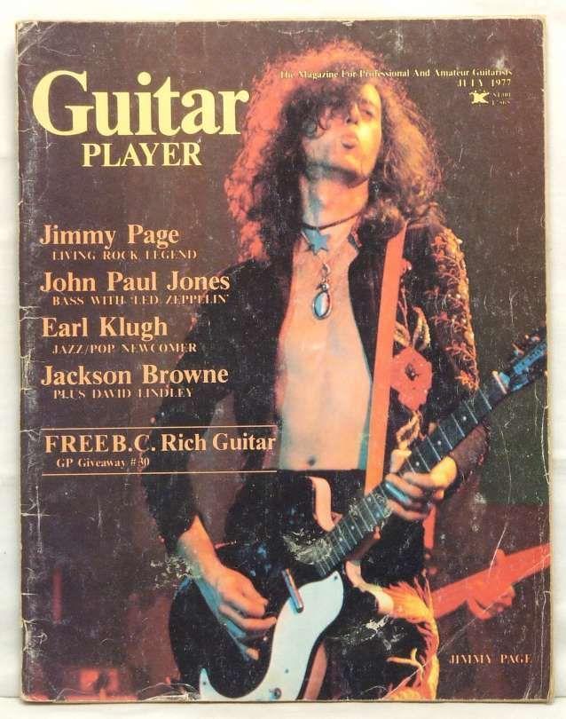 Guitar Player Magazine Jimmy Page John Paul Jones LED Zeppelin Earl