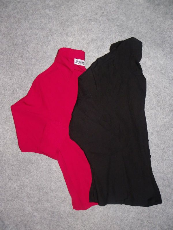 Joanna Petite Womens Blouse Shirt Top Size PM PL PXL Red or Black