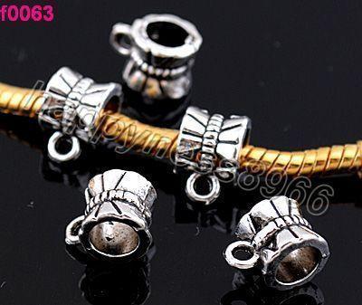 15p Tibetan Silver Dot Connectors For Pendants Fit Charm bracelets