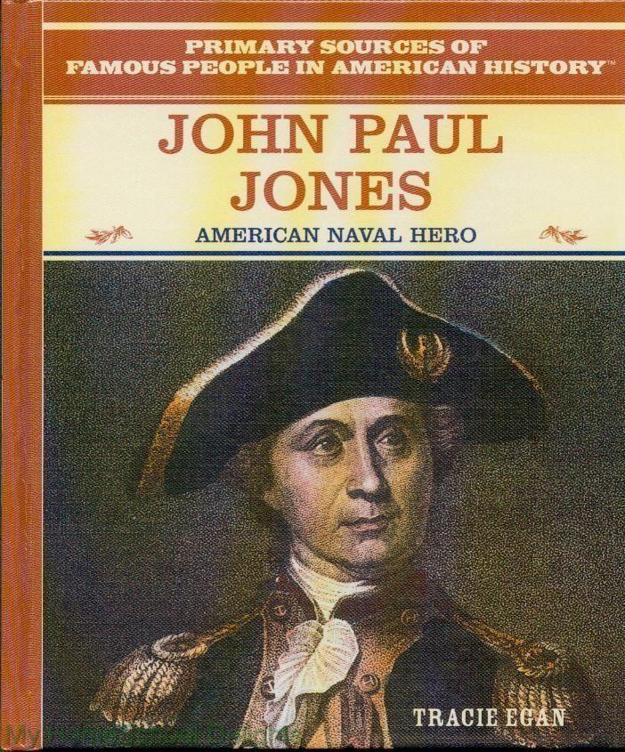 New John Paul Jones Biography HC 1st American Revolution Naval Hero Homeschool