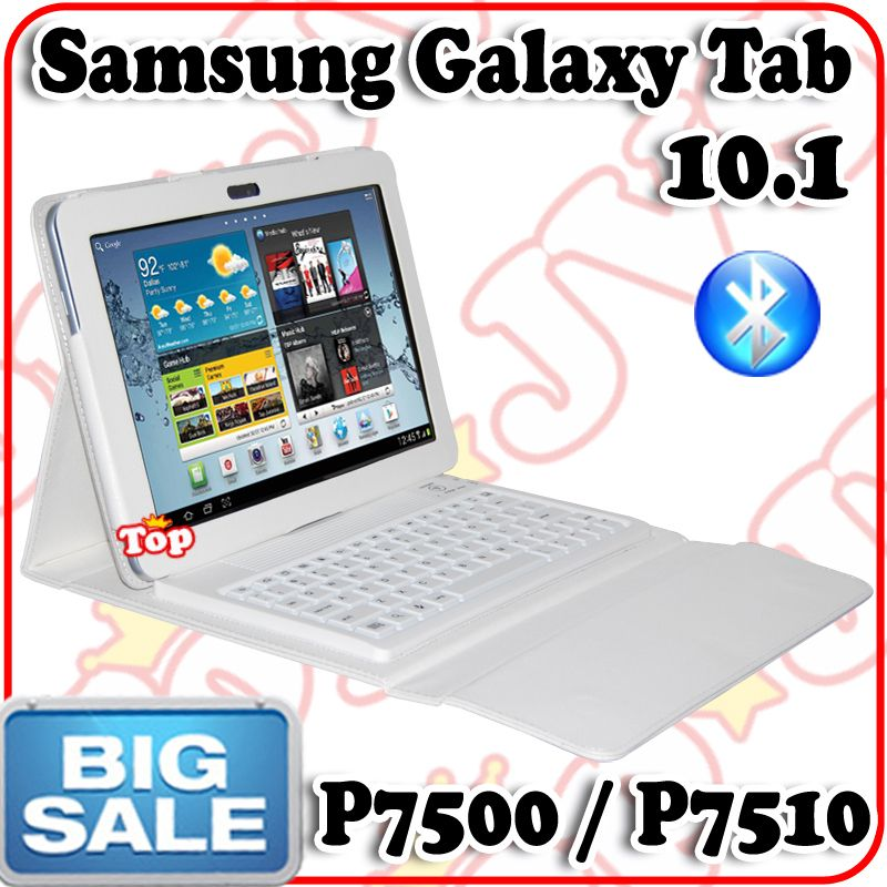 Leather Case Bluetooth Keyboard For Samsung Galaxy Tab 10 1 7500 P7510