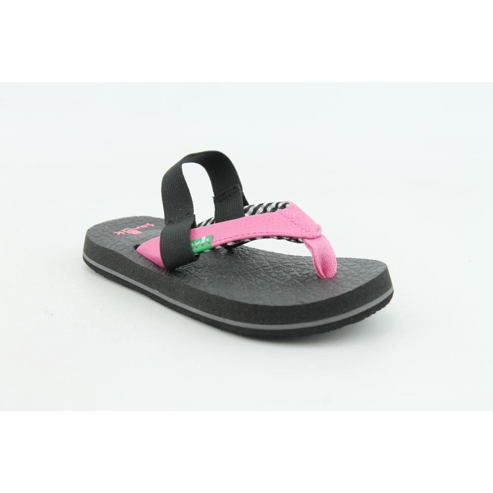 Sanuk Yoga Mat Kids Infant Baby Girls Size 8 Pink Flip ...