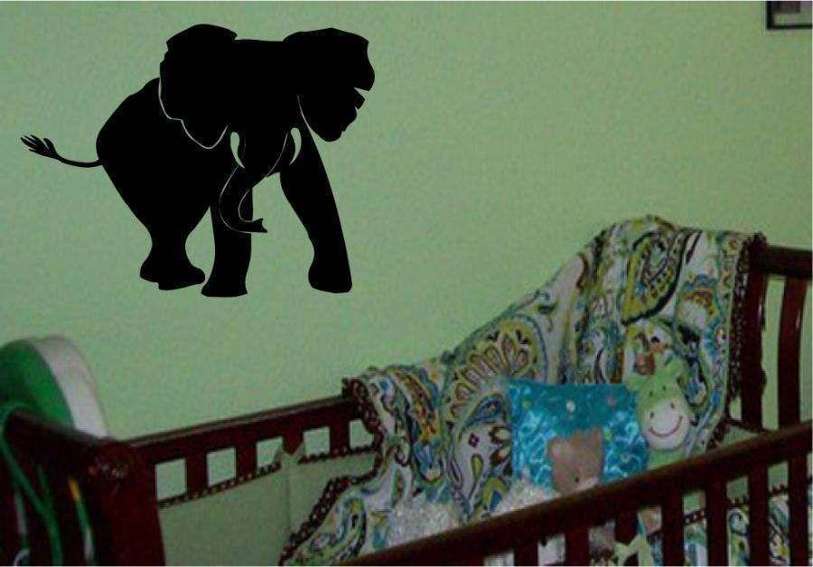 Elephant Safari Jungle Kids Room Wall Decal Decor