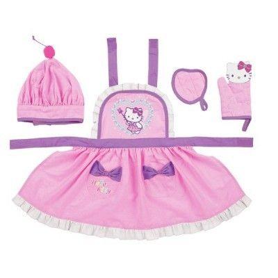Hello Kitty Kids Play Kitchen Apron Oven Glove Gift Set Fairy