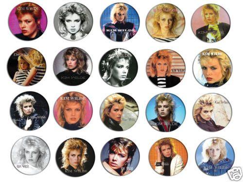 Kim Wilde 80s Image Pin Pinback Button Badge Magnet Keychain Set 4 20