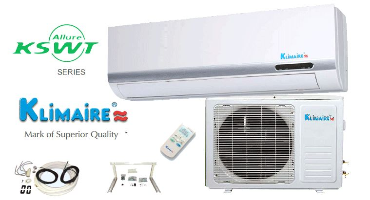 18000 BTU Ductless Mini Split Air Conditioner Klimaire with Toshiba