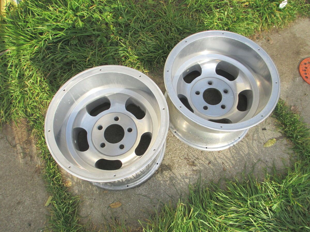 15 x10 Ansen Sprint Slot Mag Wheels Rims fit Ford Chevy Pontiac 5x5