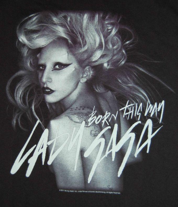 Lady Gaga Born This Way 2011 Monster Ball Tour Black Shirt Adult Small