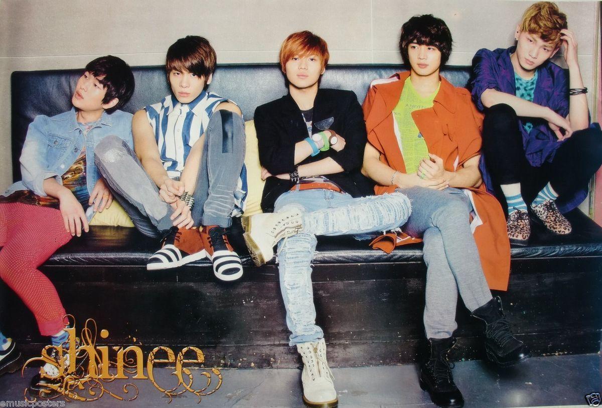 Sitting on Black Sofa Asian Poster K Pop Music Korean Boy Band
