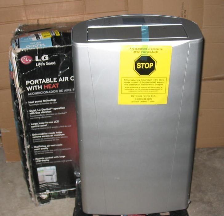 LG Electronics 14 000 BTU Portable Air Conditioner Heat Dehumidifier