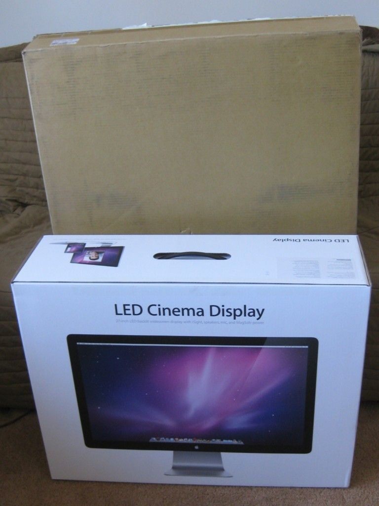 Apple 27  LED Cinema Display Empty Box Mac Monitor