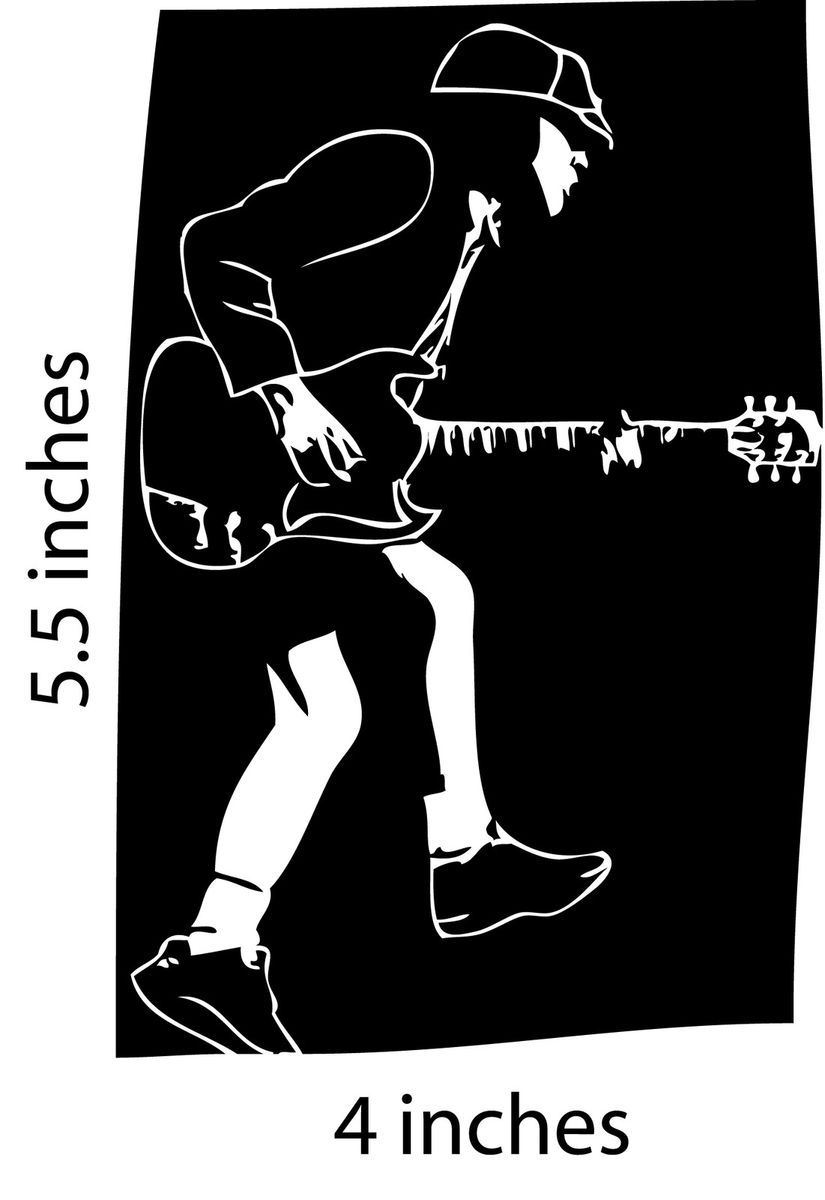 ACDC Stickers Cut Vinyl Decal Marcus Hook Roll Gibson SG ACDC