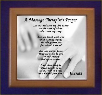 Massage Therapist Prayer Keepsake Box Personalized