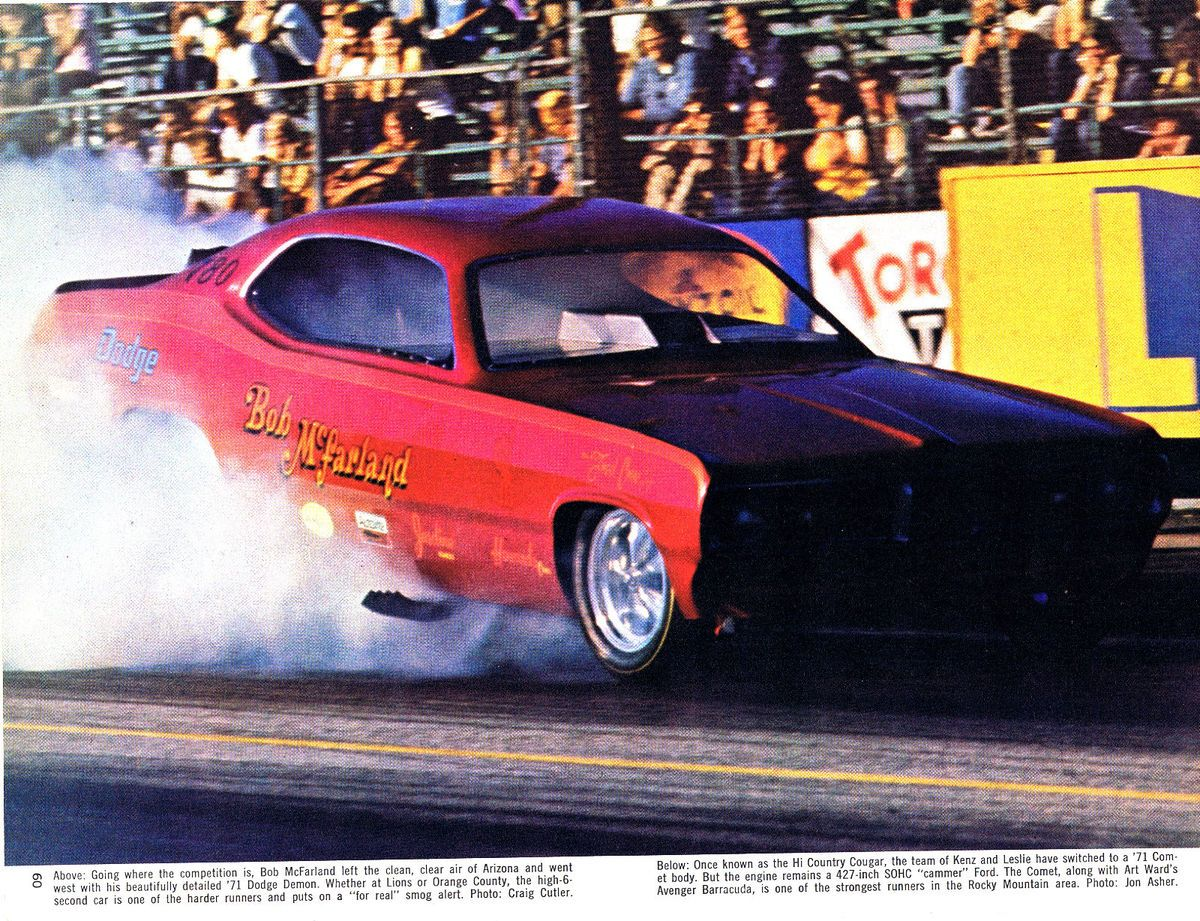 Racing In Car >> NHRA IHRA AHRA Drag Racing Dodge Demon Funny Car Bob McFarland