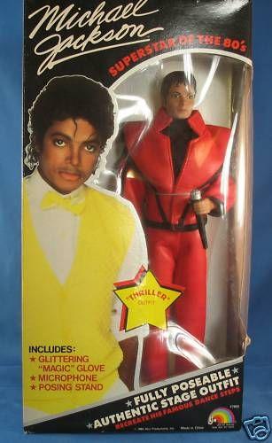 Michael Jackson Thriller Doll Glitter Glove Mic