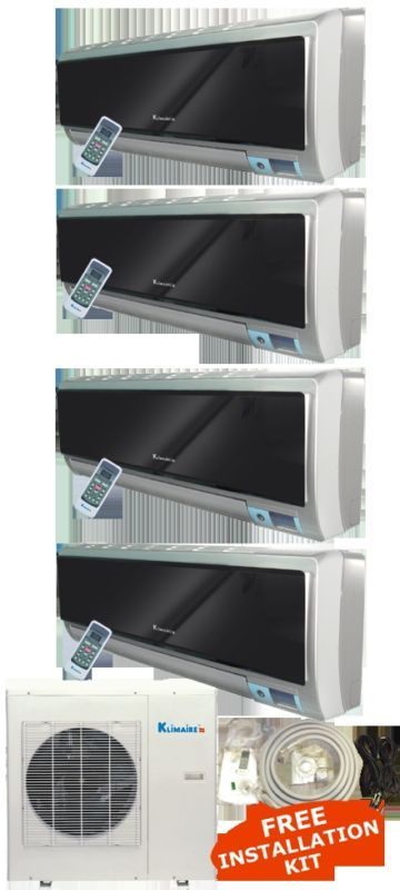 Ton 4 Zone Mini Split Ductless Air Conditioner