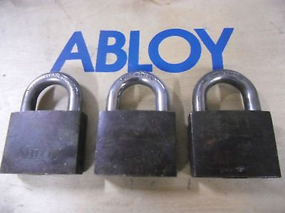 ABLOY PL341 size HIGH SECURITY PADLOCK TRUCK LOCK THREE PACK ALIKE w/2