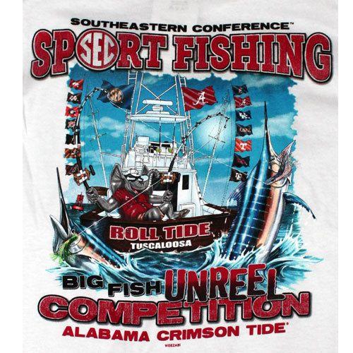 Alabama Crimson Tide Football T Shirts   Biggest Catch Go Deep SEC