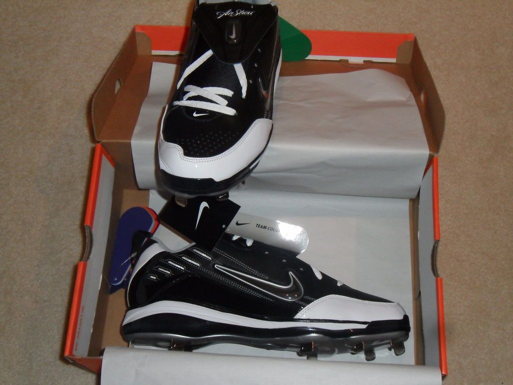 NEW in Box Mens Nike Air Show ELITE MVP Metal Baseball Cleats 13 Black