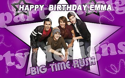 Big Time Rush Frosting Sheet Edible Cake Topper 1/4 sheet