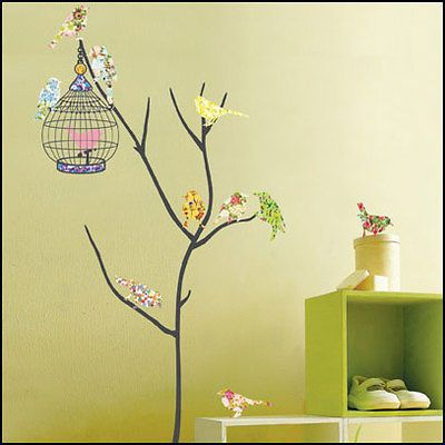 BIRD&CAGE Decor Mural Art Wall Paper Sticker PS58073