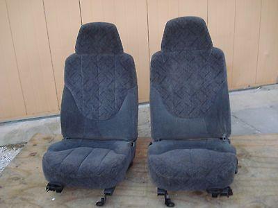 GRAPHITE DARK GRAY CLOTH BUCKET SEATS CHEVY S10 BLAZER GMC JIMMY
