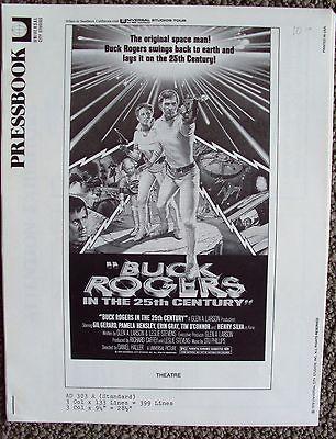 BUCK ROGERS in the 25th Century Original PRESSBOOK Press Ads GIL