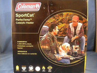 Coleman SportCat PerfecTemp Catalytic Heater 1,500 BTUs   NEW