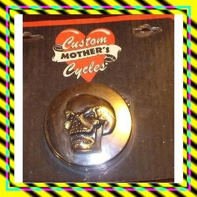 CUSTOM MOTHERS CYCLE 3D SKULL GAS CAP COVER CHROME ALL MODELS