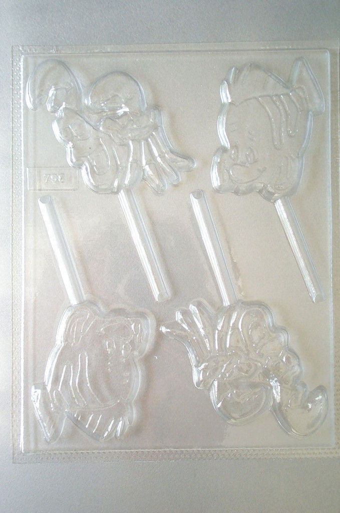FLOUNDER & SEBASTIAN LITTLE MERMAID CANDY MOLD MOLDS
