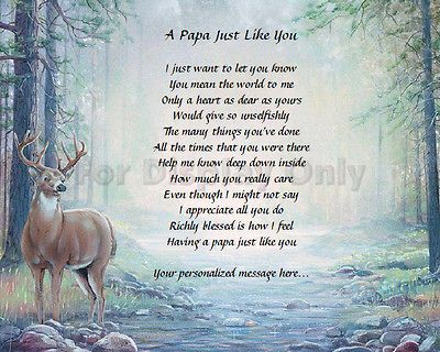 Papa Gift Grandfather Grandpa Personalized Poem Birthday Or Christmas