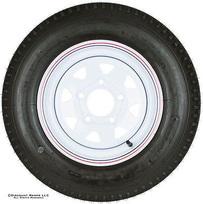 30x12 WHITE 5 BOLT TRAILER WHEEL RIM+TIRE  530 12 (WHEEL 5.30X12