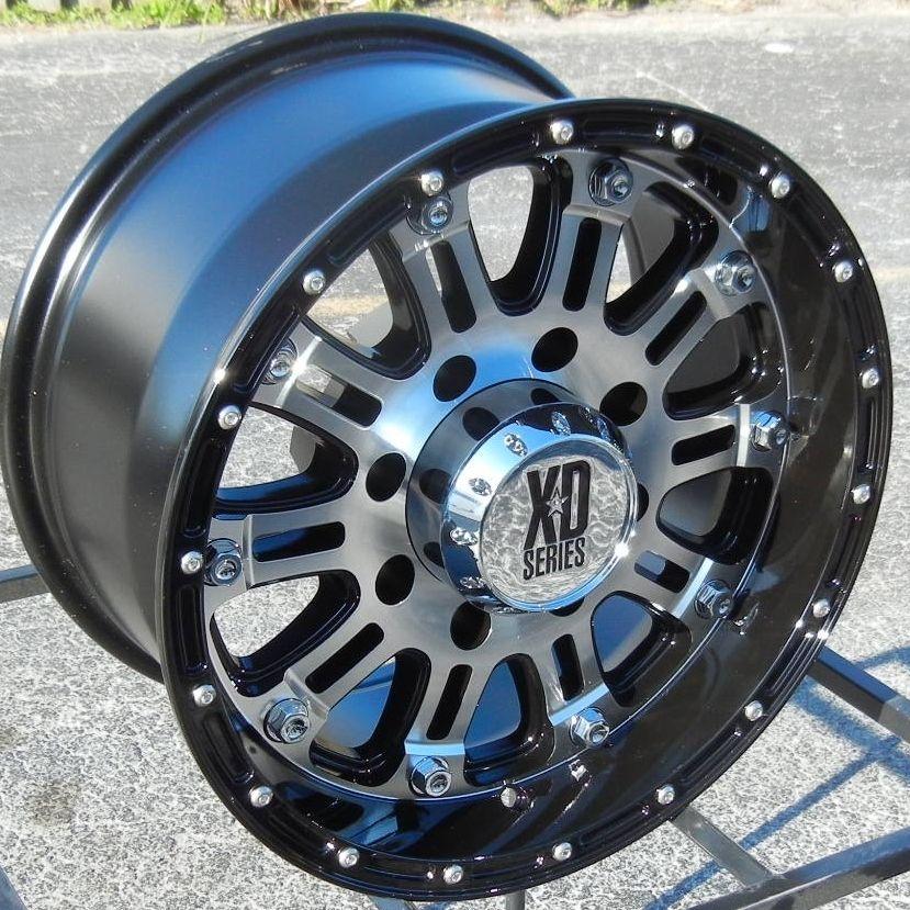 17 Black Machined XD Hoss Wheels Rims Chevy Tahoe Suburban GMC Sierra