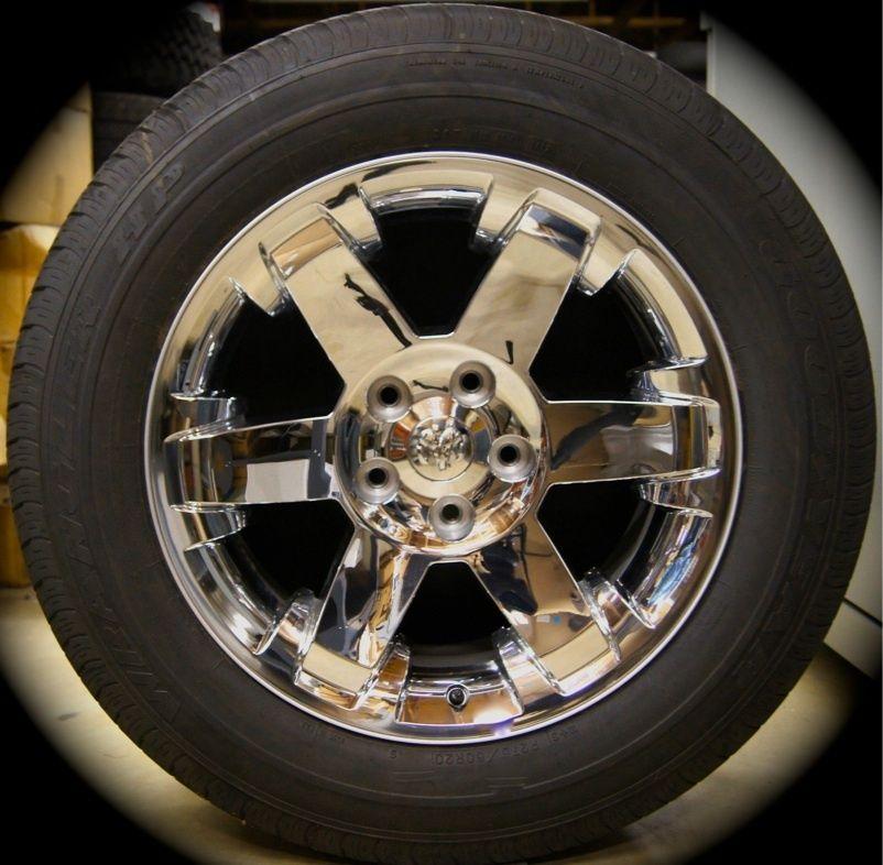 Ram Chrome 20 Factory OEM Wheels Rims Tires  2002 2013