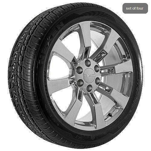 truck Yukon 2010 Denali Sierra chrome wheels rims and tires package