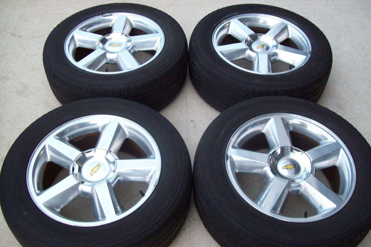 2007 2012 20 Chevy Tahoe LTZ Silverado Polished Wheels Tires