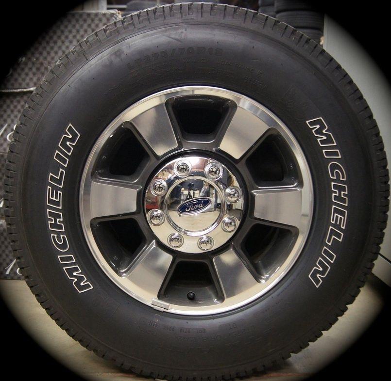 F250 F350 Super Duty 18 Factory OEM Wheels Rims Michelin Tires 2005 13