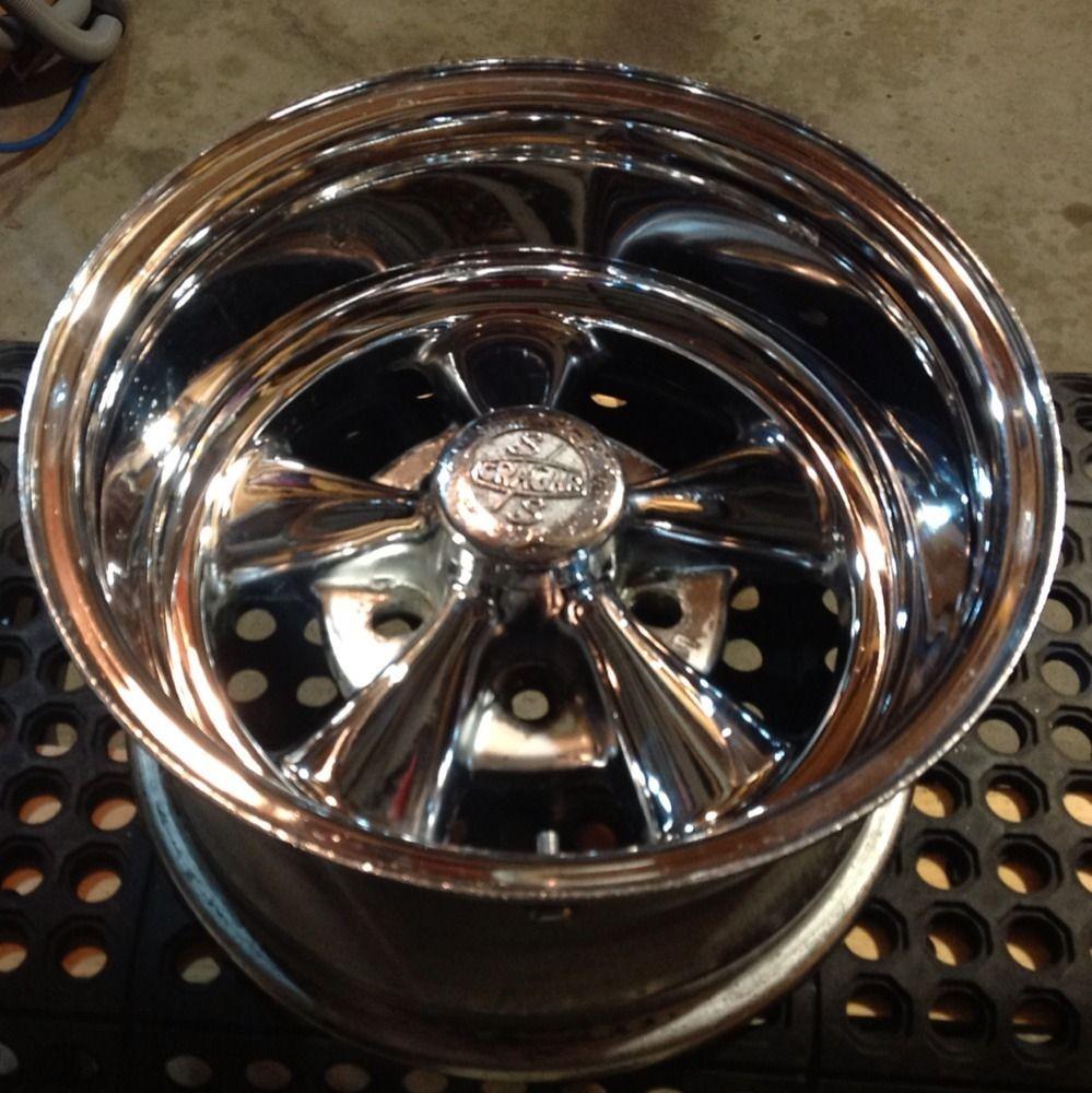 14x8 Cragar SS Wheels Fits Chevy Ford Dodge Vintage Rims Good Drivers