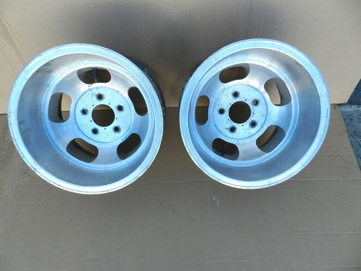 15x10 US Indy Slot Mag Wheels Rims Fit Ford Chevy Pontiac 5x5 Vintage