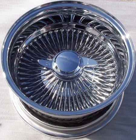 14 100 Spoke All Chrome Wire Wheels 14X7 Deep Dish