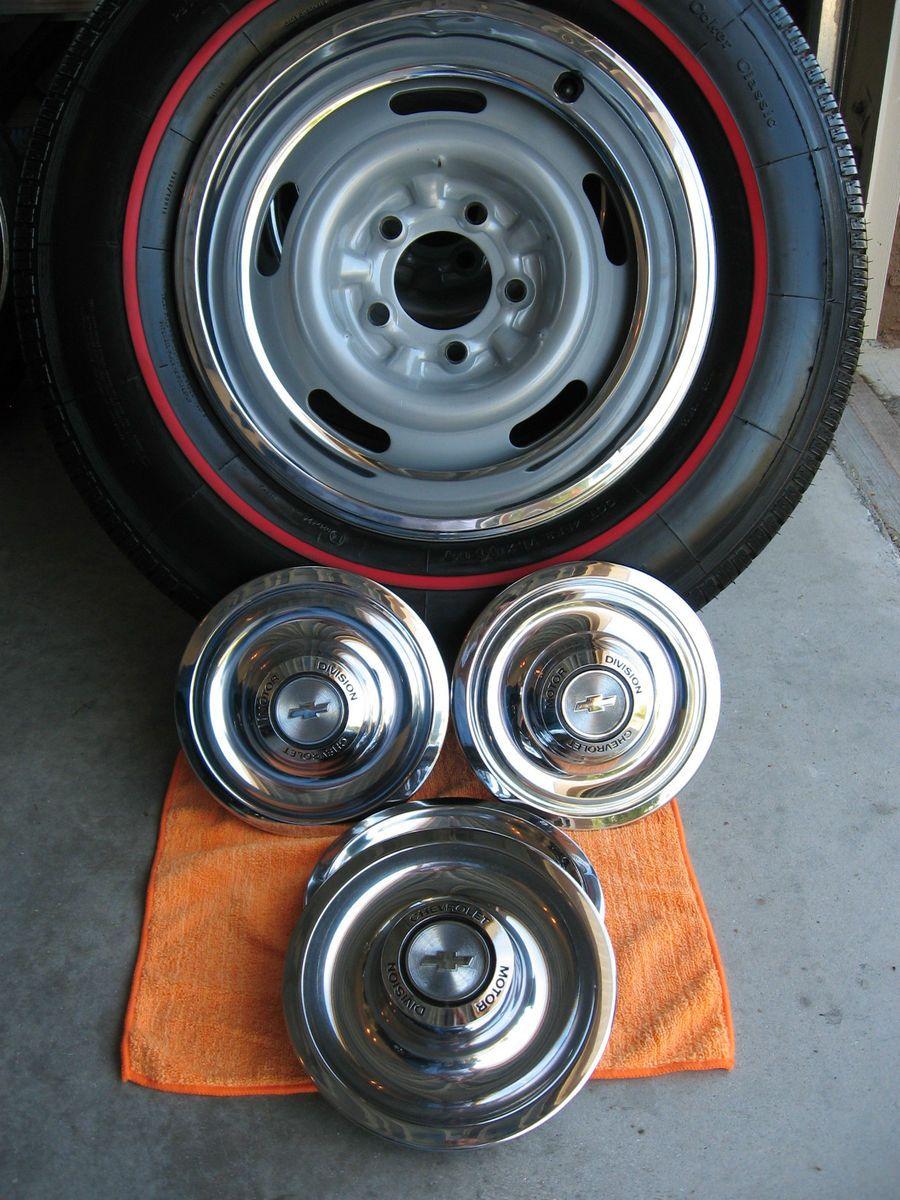 General At Tires >> P205/75R15 Coker Redline Tires (4) 15x6 Corvette / Camaro Rally Wheels