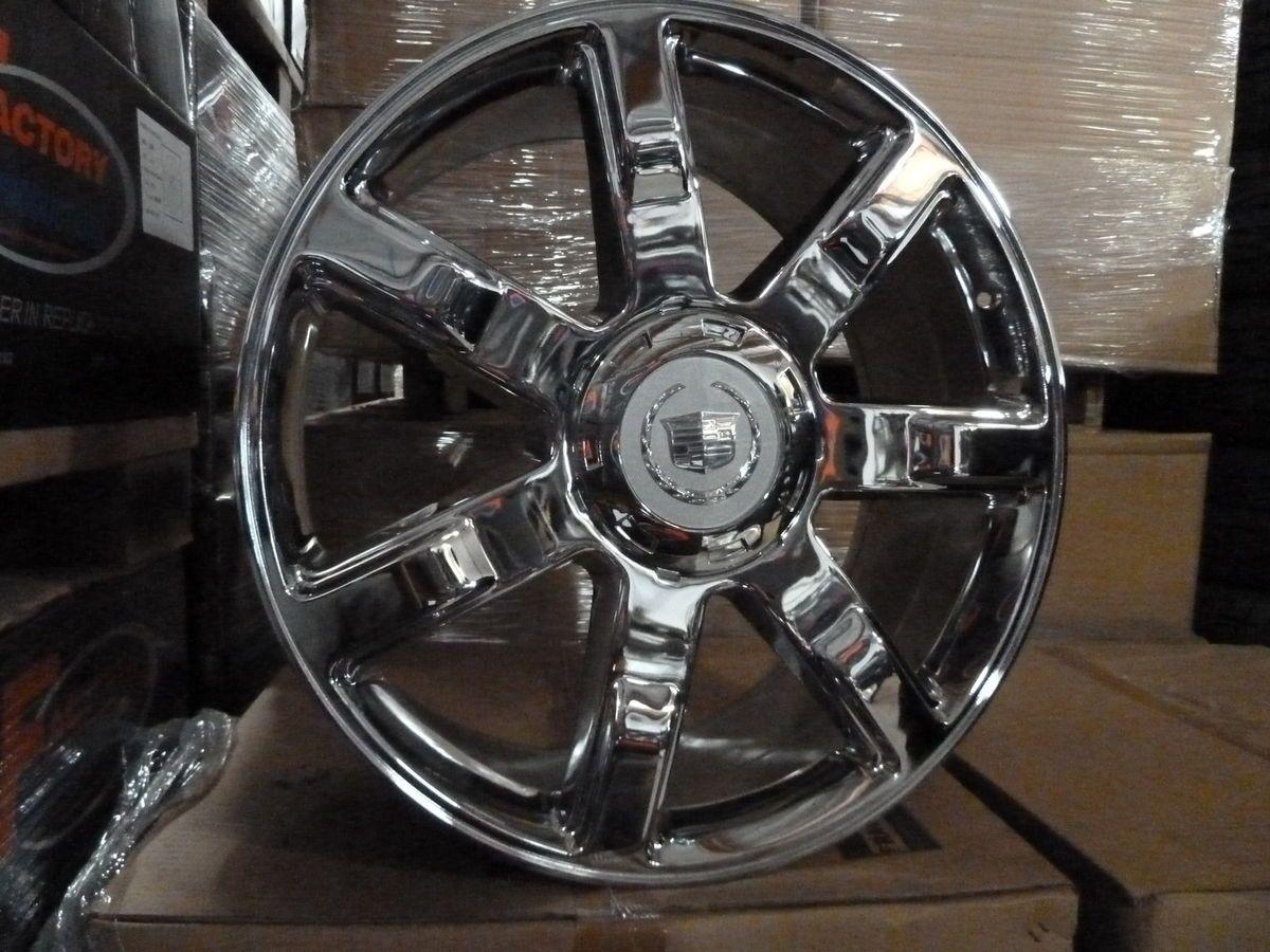 24 Cadillac Escalade Chrome Wheels Rims Set Suburban Tahoe Yukon